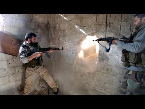 18+ Война в Сирии - жестокие городские бои Алеппо