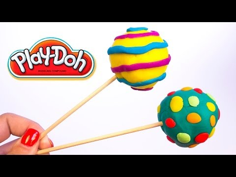 Play Doh Lollipops How to make Playdough Lollipops Pops Ice creams Popsicles Hasbro