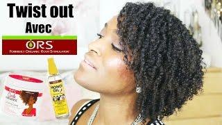 TWIST OUT avec O.R.S Curls Unleashed CURL DEFINING CREME (cheveux crépus,frisés)