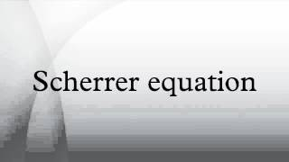 Scherrer equation