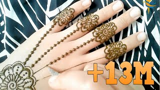 Learn the henna engraving with a distinctive and very easy style of a modern