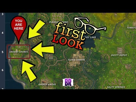 SNOBBY SHORES FIRST LOOK! FORTNITE BATTLE ROYAL!