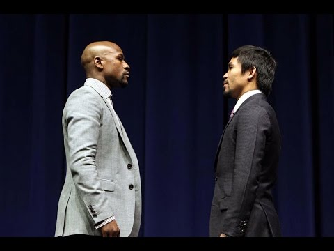 Intense Floyd Mayweather vs Manny Pacquiao Face-Off