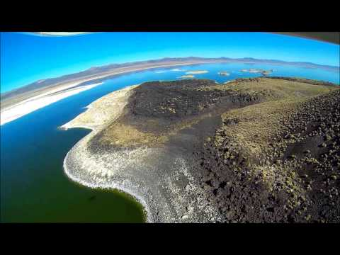 One of Sting Flight's (SF's) prettier low flights, over 6400-ft Mono Lake, California, with water more than twice as salty as the ocean. For more such scenic flying, plus some wild & wooly--somet...