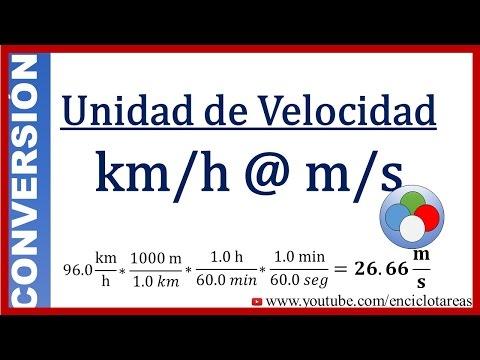 Conversión De Km/h A M/s (método Facil)