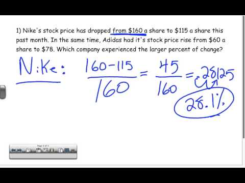 percent change word problems youtube. Black Bedroom Furniture Sets. Home Design Ideas