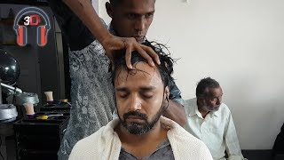 Binaural ASMR Relaxing Head massage | New Barber
