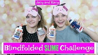 Blindfolded Slime Challenge ~ Jacy and Kacy