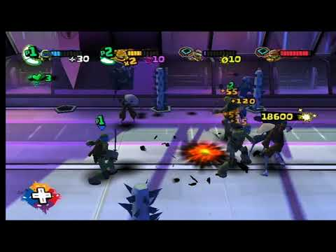Nickelodeon Teenage Mutant Ninja Turtles (Wii) Part 6 The Shredder Fight