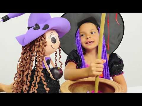 Маленькая ведьмочка Кати - Видео с игрушками - Превращение Пеппе в принца