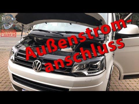 Außenstromanschluss am VW T5 California Beach eingebaut