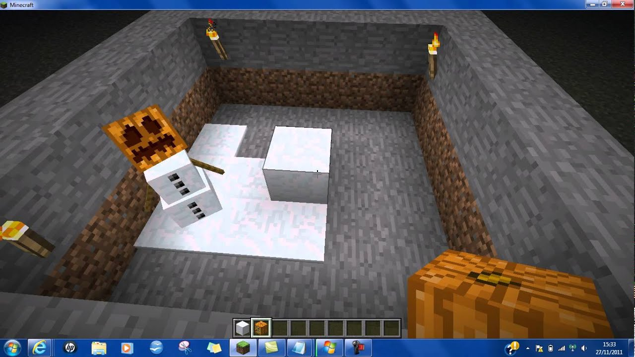 Minecraft/how to Make a Snow