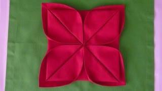 Hur man viker en lotusblomma av en servett