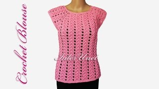 Lace top - crochet pink blouse