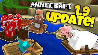 Minecraft 1.9 News | NEW BOATS, OARS, & SURVIVAL UPDATES! | Facts & Opinions! (Minecraft 1.9)