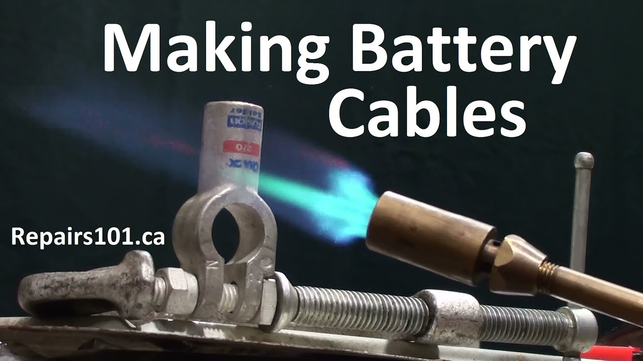 Making Battery Cables For Auto Marine Amp Solar Youtube