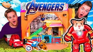 AVENGERS Endgame HAMSTER BOX FORT! 🐹 Animal Avengers