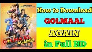 """""""How To Download Golmaal Again Full Hindi Movie in HD Mobile And Pc/Laptop"""""""
