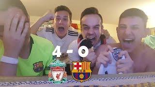 Liverpool v/s Barcelona 4-0 REACCIONES DE HINCHAS