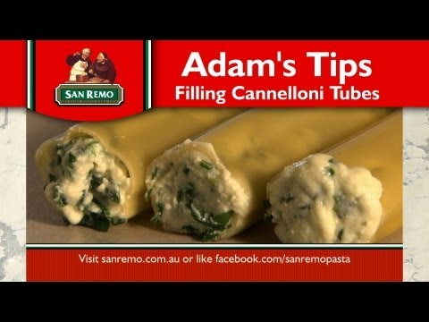 How to fill cannelloni featuring San Remo Brand Ambassador Adam Swanson