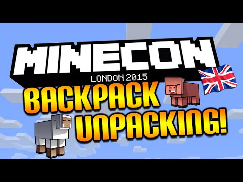 ?MINECON 2015 -ATTENDEE BACKPACK UNPACKING - T SHIRTS, PLUSHIES & MORE!?