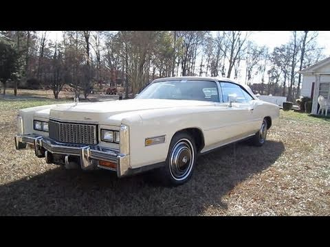 1976 Cadillac Eldorado Convertible Start Up. Engine. and In Depth Tour