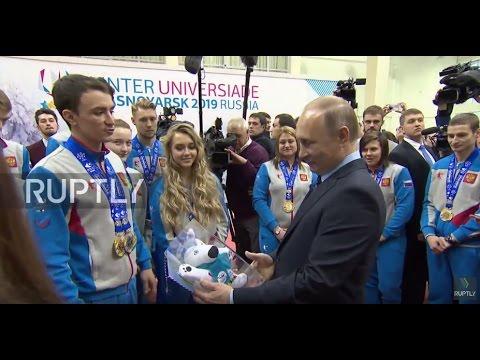 Russia: Putin inspects 2019 Krasnoyarsk Winter Universiade project