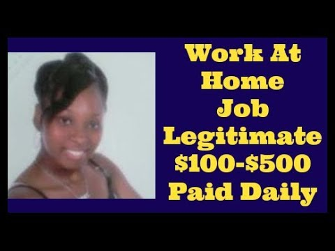 Work At Home Jobs 2017 Data Entry Legitimate No Experience Pays Daily
