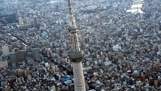 Helicopter ride over Tokyo Tower & Tokyo Skytree Japan