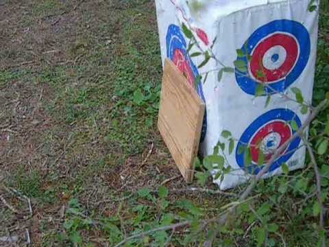 Shooting Plywood with my Crossbow (Jaguar 175Lb)