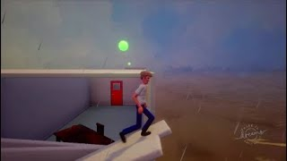 Dreams PS4 Office Disaster Tsunami Parkour Game Level Dreams Early Access