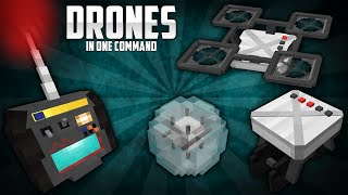 Minecraft - Drones in 1 Command (3 Drone types)