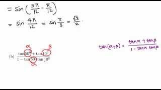 Trigonometry: Sum/Difference Formula example