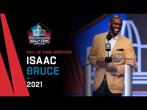Isaac Bruce Full Hall of Fame Speech  2021 Pro Football Hall of Fame  NFL