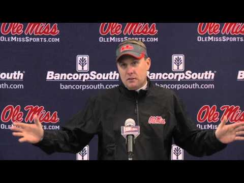 Ole Miss vs Arkansas Post Game Press Conference 11-9-13