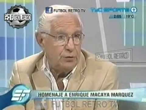 Enrique Macaya Márquez homenaje en ESTUDIO FUTBOL 2008 part1 FUTBOL RETRO TV