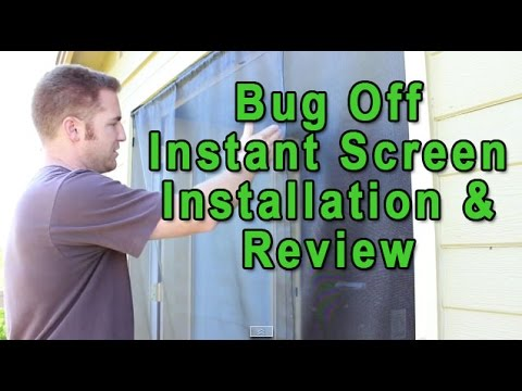 Bug Off Instant Screen Door Review - Better than Magic Mesh Screen