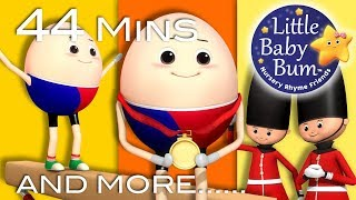 Humpty Dumpty | Part 3 | Plus Lots More Nursery Rhymes | 44 Minutes Compilation from Little Baby Bum