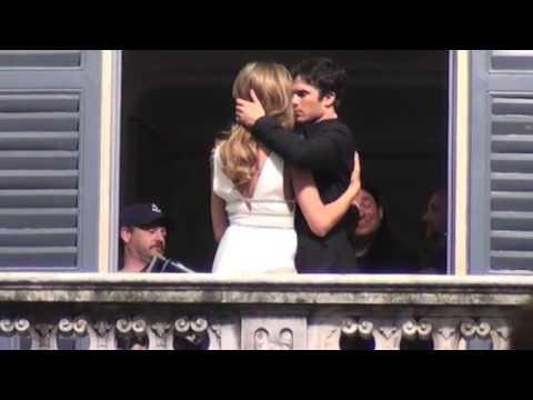 "Ian Somerhalder and Ana Beatriz Barros on the set of ""Azzaro"" fragrance"