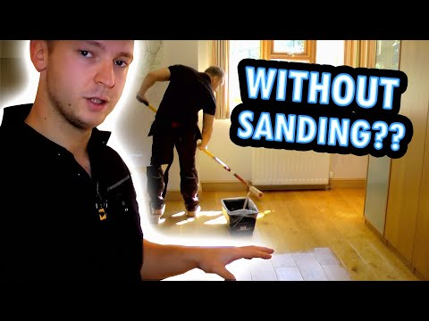 How To Refinish A Wooden Floor Without Sanding How To Sand A Floor