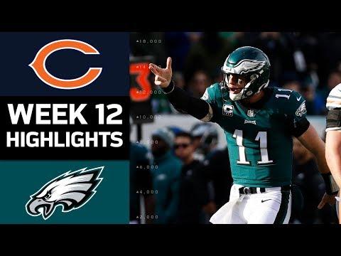 Bears vs. Eagles | NFL Week 12 Game Highlights