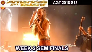 "Courtney Hadwin sings ""Born To Be Wild"" SIMON LOVES IT Semi-Finals 2 America's Got Talent 2018 AGT"