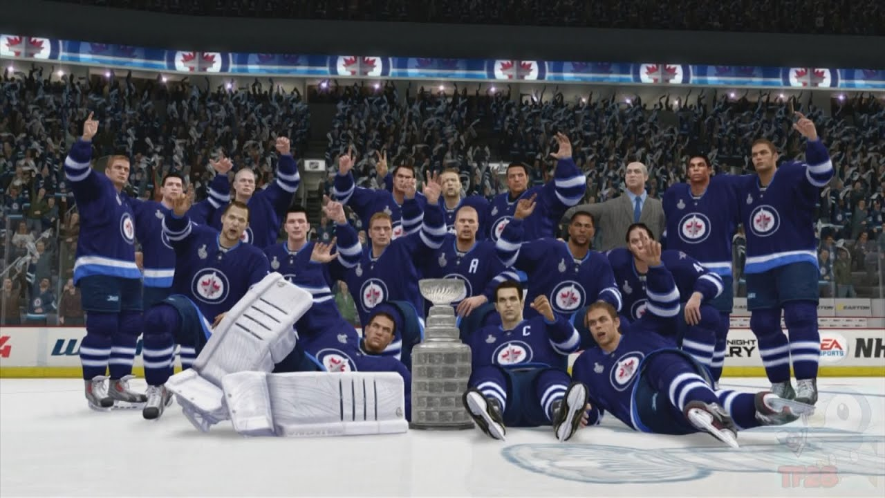 nhl winnipeg jets wallpaper NHL 14 Winnipeg Jets Stanley Cup Championship Celebration YouTube