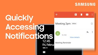 01. Quickly access your notifications from the lock screen on your Galaxy phone | Samsung US