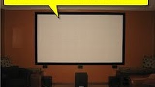 How to Build Your Own Projection Screen