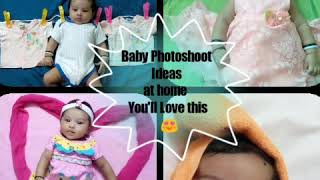Creative Baby Photoshoot Ideas at home. You'll Love this!!!