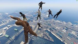 GTA 5 Ragdolls Compilation | Crowd Falls vol.4 (Euphoria physics)