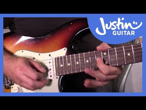 5 Blues Licks In Pattern 4 Minor Pentatonic Blues Scale: Blues Lead Guitar Lesson Tutorial S2p6