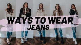 HOW TO STYLE JEANS / 5 Casual Everyday Outfits 2020 / Sinead Crowe