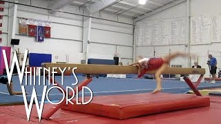 Balance Beam Wipeout | Level 3 Gymnastics | Whitney